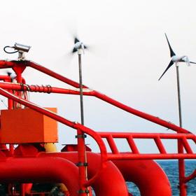 茂名海上平台风光互补发电系统