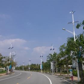 海南三亚海棠湾风光互补路灯工程